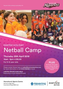HORNCHURCH Mavericks Netball Easter Camps 2019