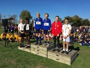Orienteering secondary podium